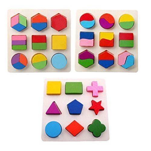 木のおもちゃ 幾何認知 形合わせ 積み木 型はめ ...
