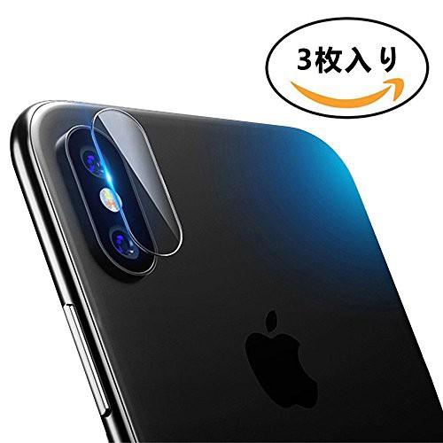 ANGOO 3枚セット iPhone X カメラ フィルム iPhon...