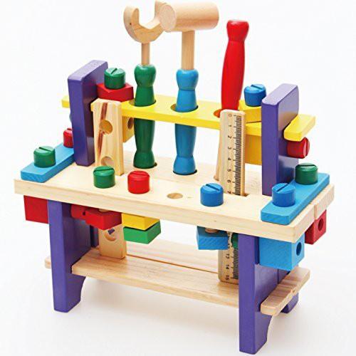 (知育玩具) (木製おもちゃ) 組み立て工具 大...