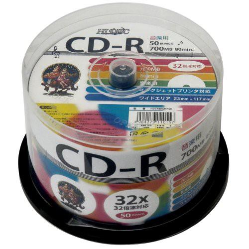 磁気研究所 音楽用CD-R 32倍速 50枚スピンドル HD...