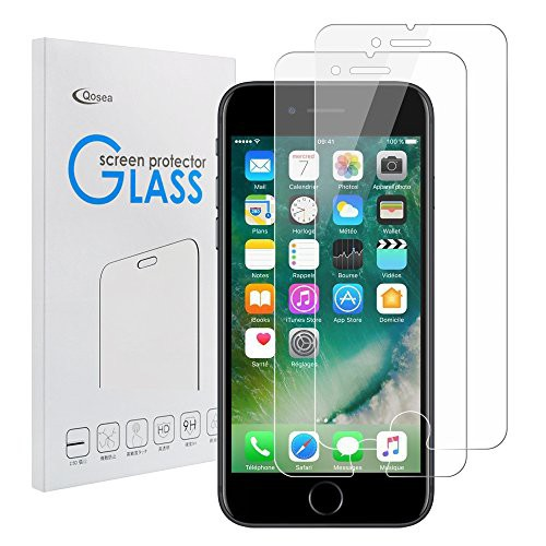 iPhone 8 強化ガラスフィルム(Qosea)iPhone8/ip...