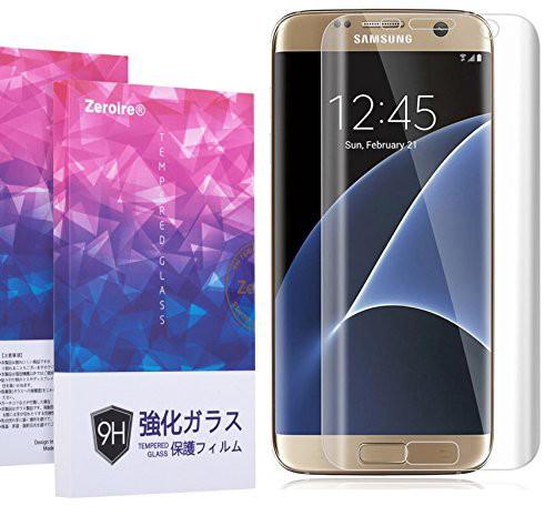 Samsung Galaxy S7 Edge 3D全面保護ガラスフィル...