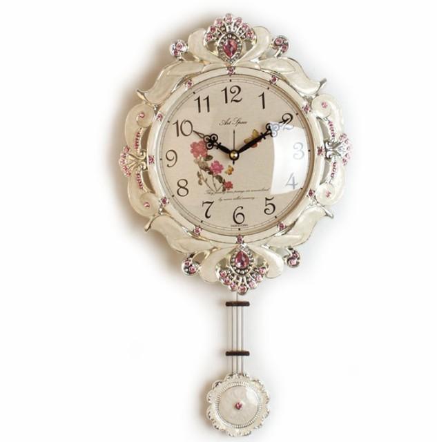 《素敵なインテリア》ビクトリー掛け時計-white
