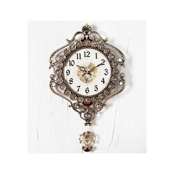 《素敵なインテリア》303振り子時計ゴールド/イン...