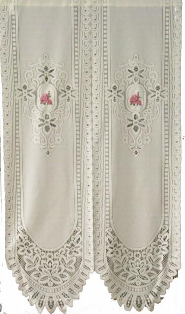 レースのれん バテン刺繍バラ 85x150 NO.1103...