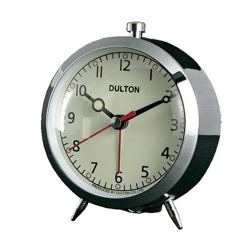 ALARM CLOCK CHROME ダルトン DULTON 置き時計 目...