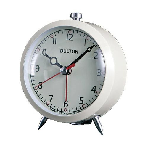 ALARM CLOCK IVORY ダルトン DULTON 置き時計 目...