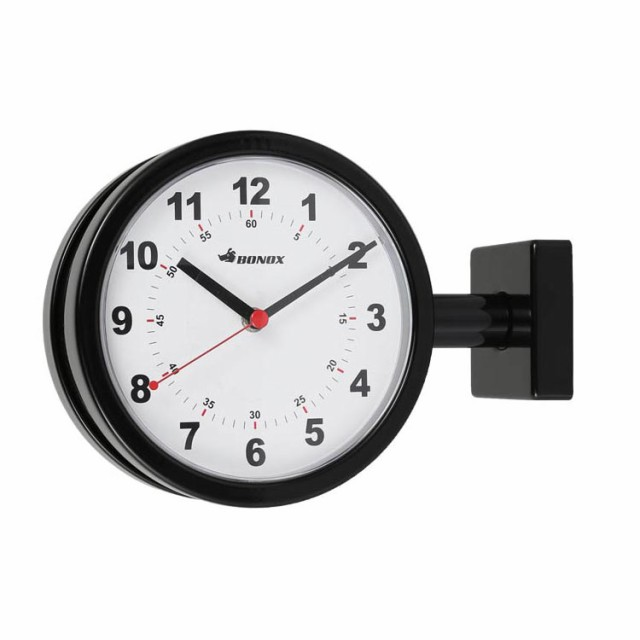 送料無料 DOUBLE FACE CLOCK 170D BLACK ダルトン...
