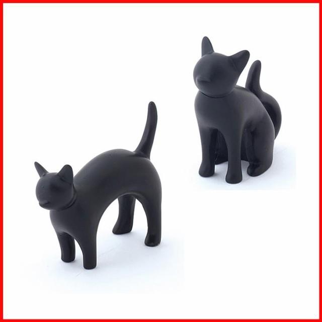 黒猫のリングホルダー2個セット ねこ グッズ 猫 ...