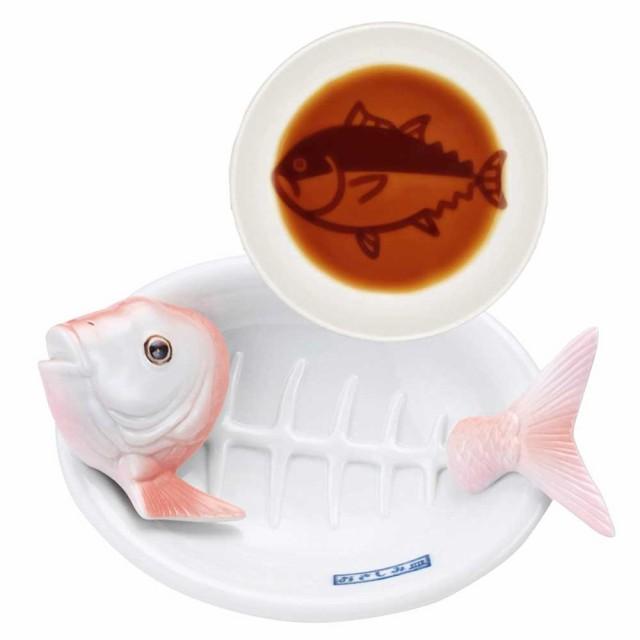 鯛のお刺身皿と鮪の醤油皿セット おもしろ雑貨 刺...