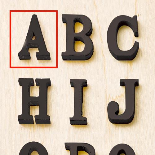 オールドルックレター ブラック A アルファベット...