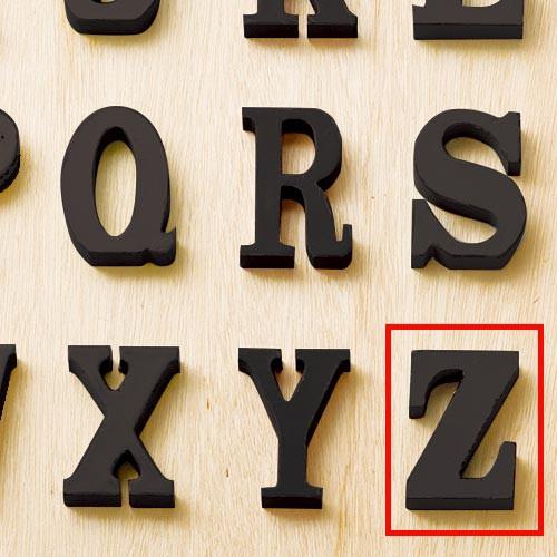 オールドルックレター ブラック Z アルファベット...