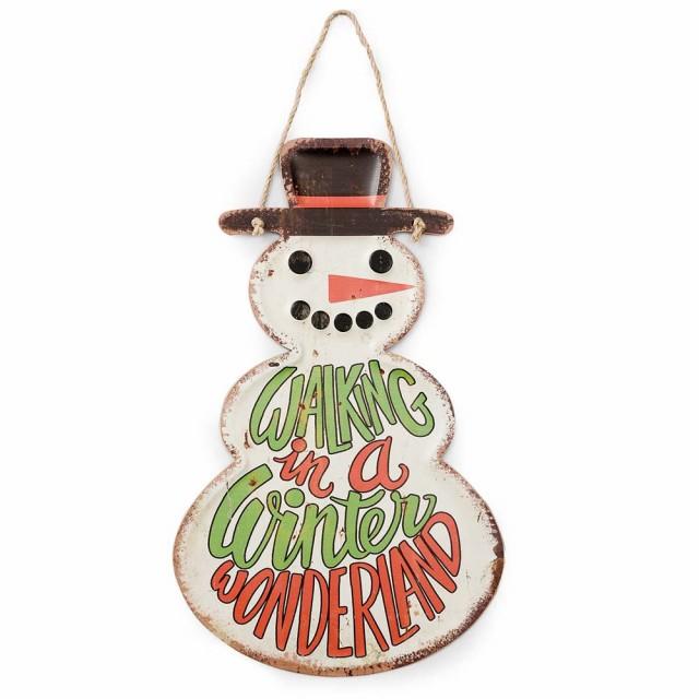 ダイカットサイン スノーマン クリスマス 飾り 壁...