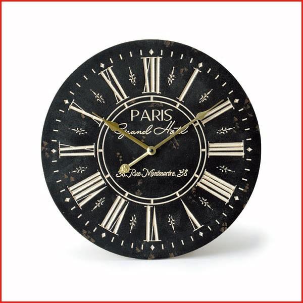 オールドルッククロック カービング パリ 時計 掛...