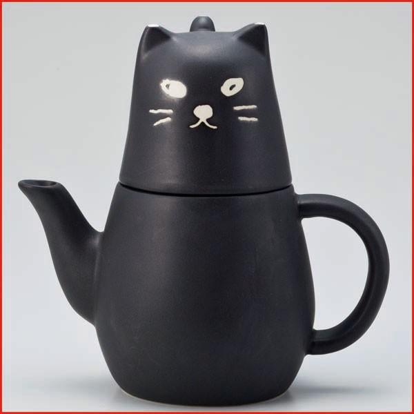 ねこグッズ 猫雑貨 ティーポット ティーカップセ...