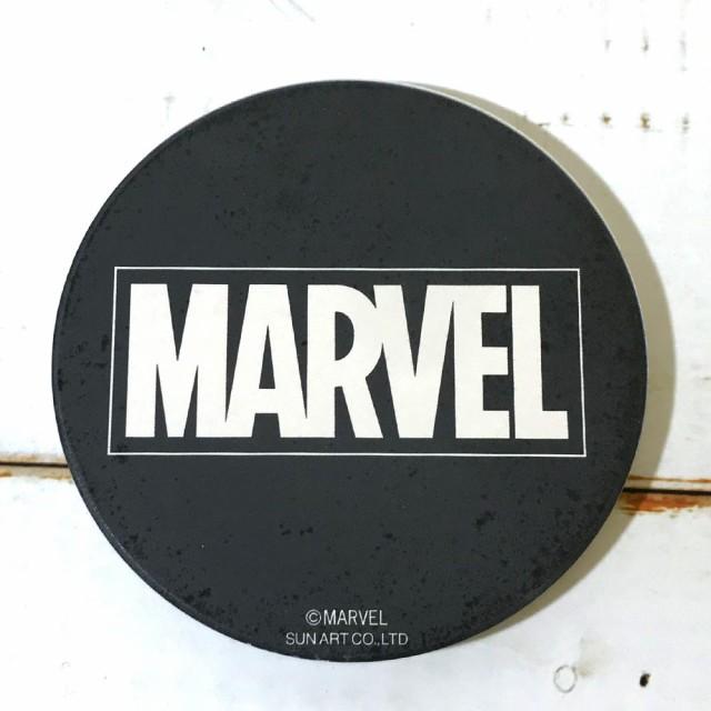 吸水コースター(MARVEL)ロゴ・ブラック コース...