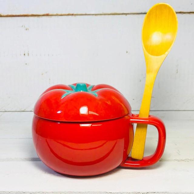 スープカップ トマト スープカップ 陶器 スープマ...