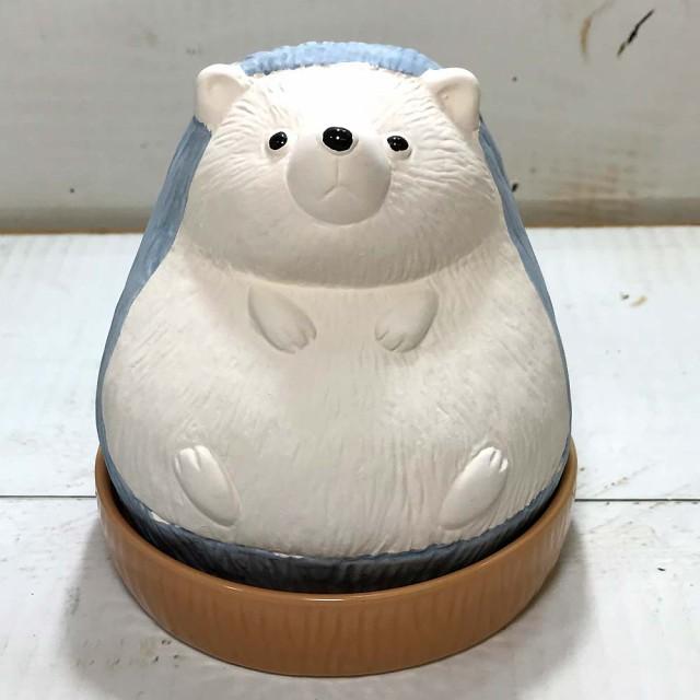 ハリネズミ 加湿器 エコ 加湿器 陶器 気化式 卓上...