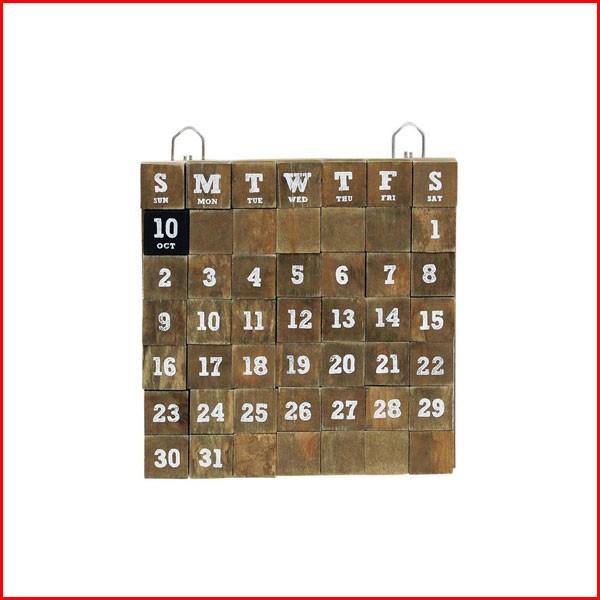 万年カレンダー カレンダー 木製 マグネット 卓上...