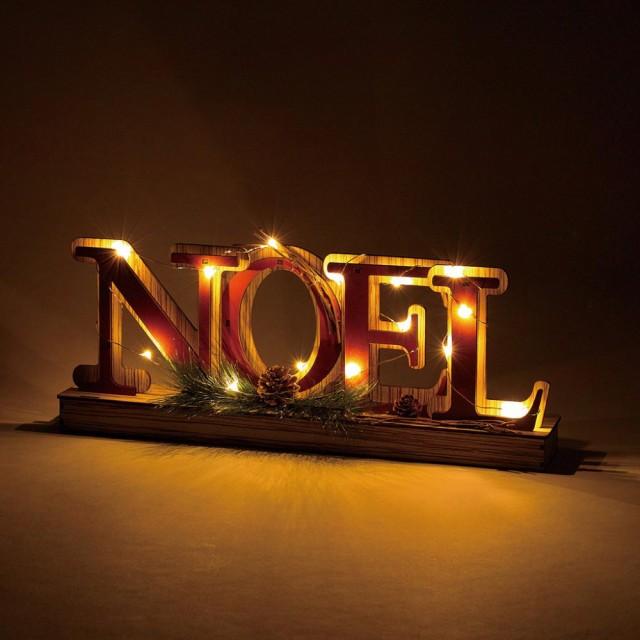 エルツ LEDウッドサイン ノエル オーナメント led...