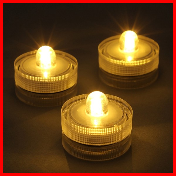 (6)WATERPROOF T-LIGHT CANDLE 3PCSセット ティー...