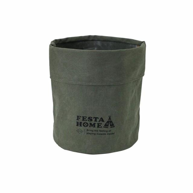 FESTA HOME ストレージラウンドボックス カーキ X...