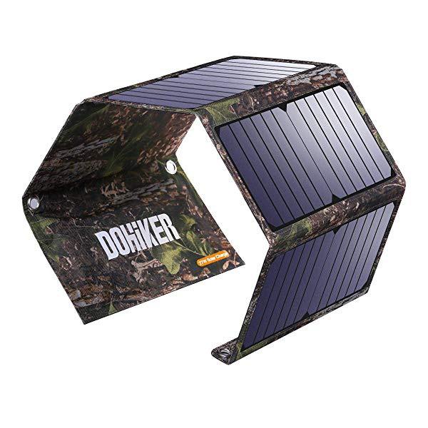 27W ソーラーチャージャー ソーラー充電器 急速充...