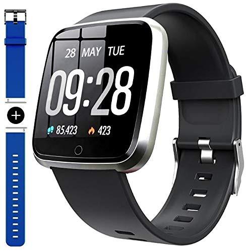 c7d5425177 スマートブレスレット スマートウォッチ 防水 心拍計 血圧計 活動量計 万歩計 睡眠