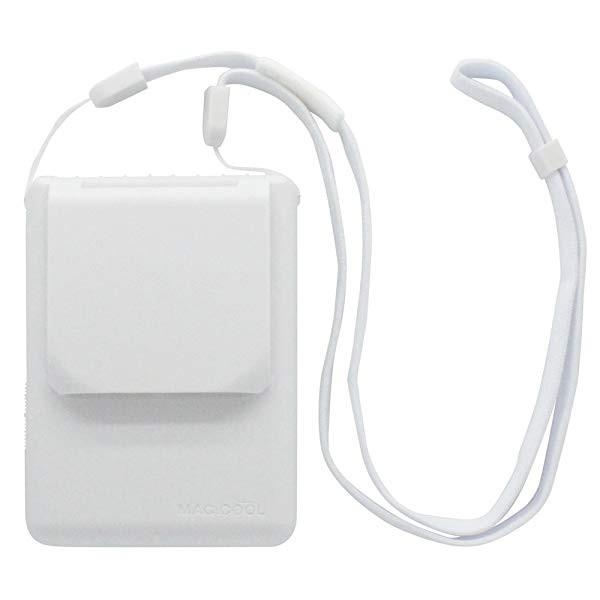 マイファンモバイル 首にかけるパーソナル扇風機 ホワイト 111.5×90×36.6mm MAGICOOL MM1WH