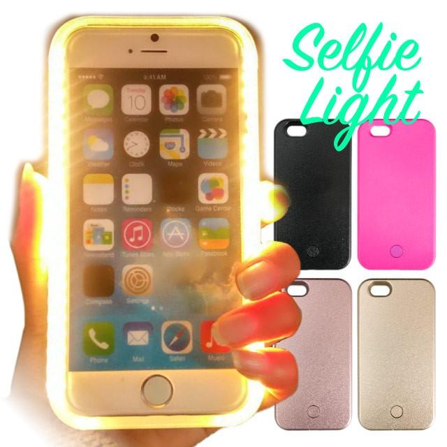 スマホケース iPhoneX iPhone8 iPhone8Plus iPhone7 iPhone7Plus iPhone6s iPhone6 iPhone ケース LED 自撮り セルカ ライト かわいい