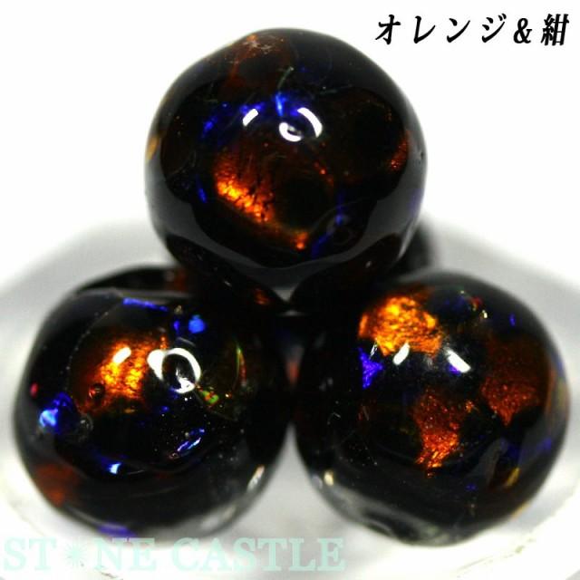 【天然石 丸ビーズ】とんぼ玉 10mm (5粒セット) ...