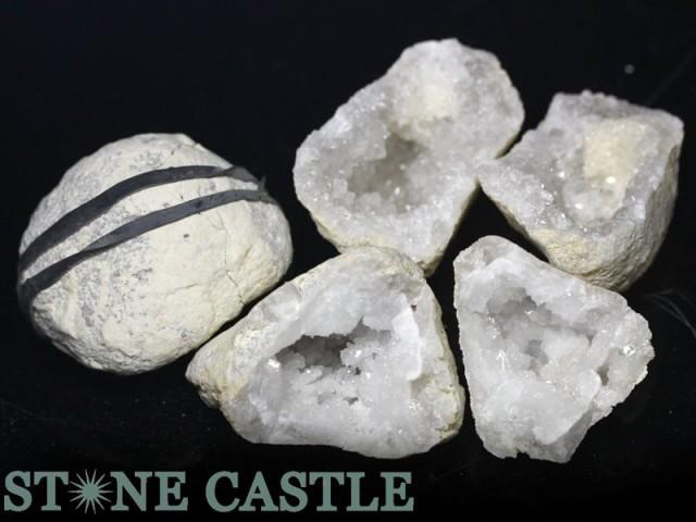 【天然石 原石】ジオード (モロッコ産) S (3個セ...