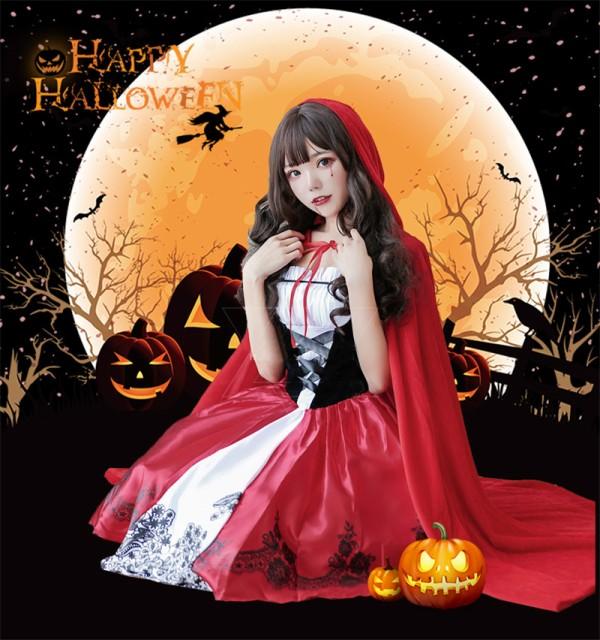 ハロウィン衣装 ワンピース 童話 赤ずきん 女性用 仮装 コスチューム S M L XL 2XL パーティー