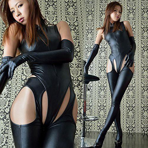 ボンテージスーツ コスチューム ブラック フリー...