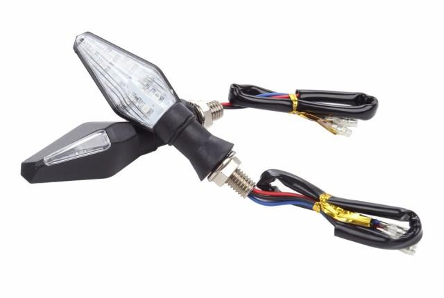 安全!! 両面 光る バイク 汎用 LED ウインカー ...