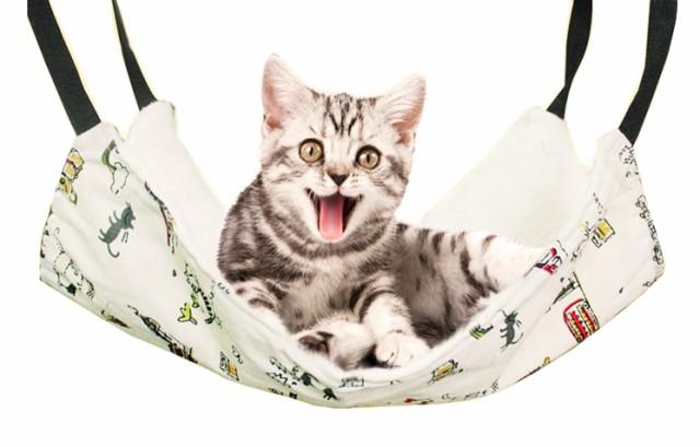 猫ちゃん 特等席 フック付 ハンモック ベッド 猫...