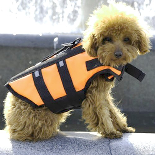 Sサイズ ペット 犬 ライフジャケット フローティ...