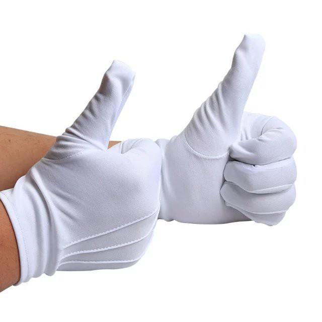 【10双組セット】 ナイロン 手袋 白 紳士 水洗い...