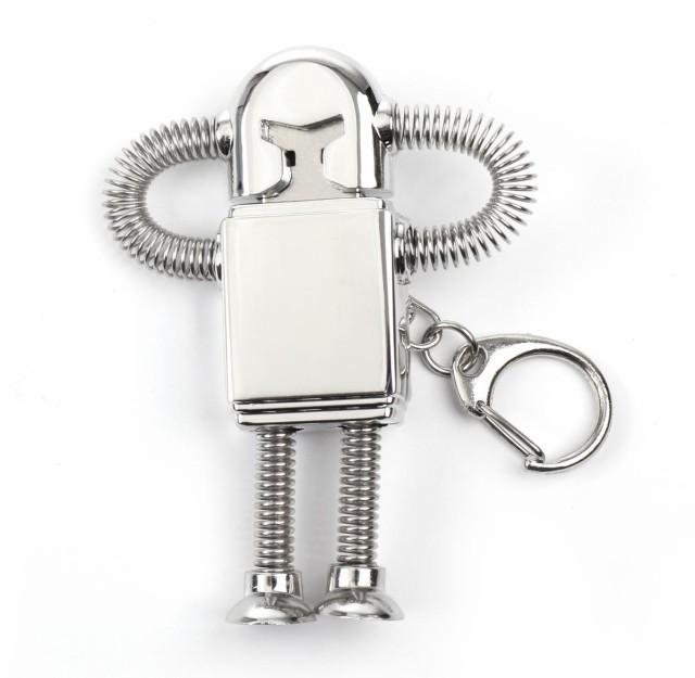 オモシロ ロボット USBメモリシルバー キーホルダ...
