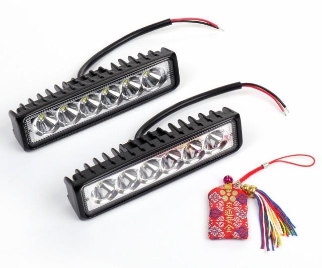 LED ワークライト 18W 6LED 作業灯 ライトバー ...