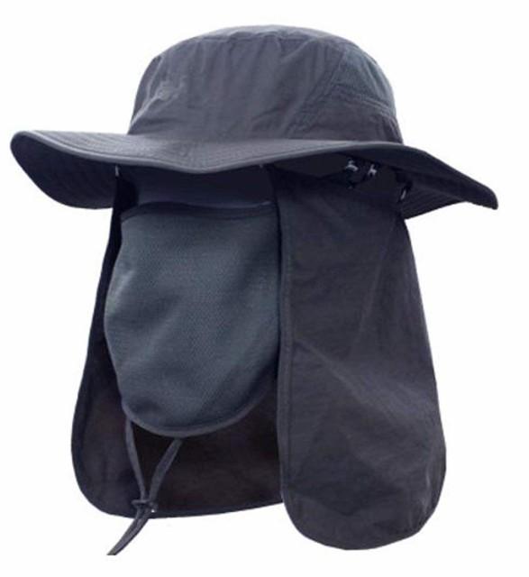 アウトドア 農作業用 帽子 UVカット フェイスカ...