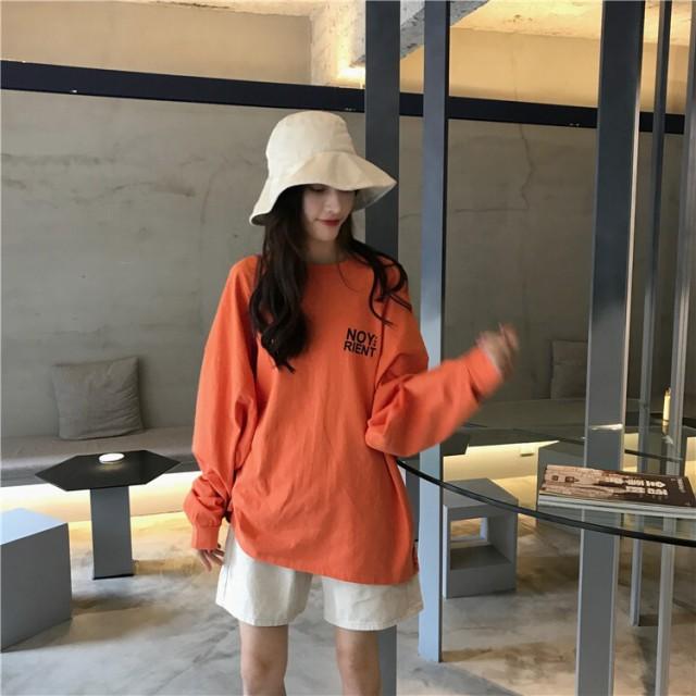 レディース トップス 春秋 Tシャツ 長袖 ラウン...