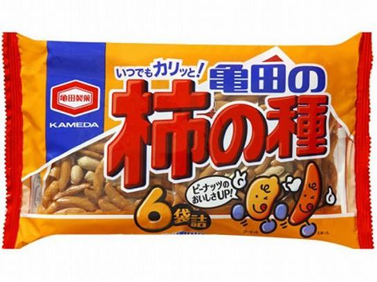 亀田製菓 亀田の柿の種 6袋詰 200g x12 490131319...