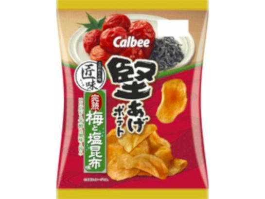 カルビー  堅あげポテト 匠味完熟梅と塩昆布 73g ...