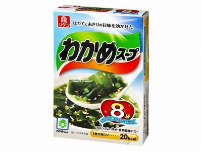 理研 わかめスープ ファミリーパック 8袋 x6 4903...