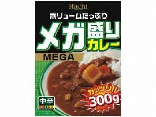 ハチ食品 メガ盛りカレー 中辛 300g x10 49026882...