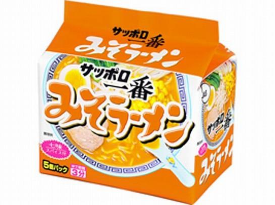 サッポロ一番 味噌ラーメン 5食 x6 4901734000198...