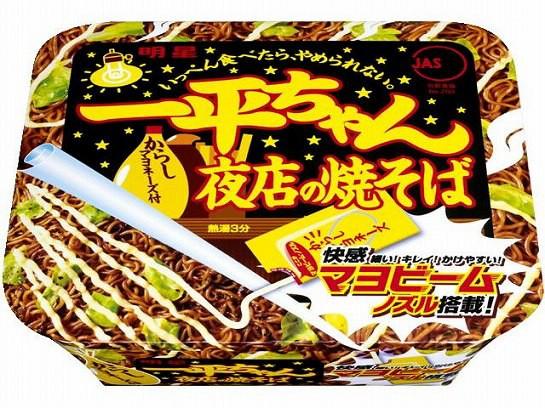 明星 一平ちゃん 夜店の焼そば カップ 135g x12 4...