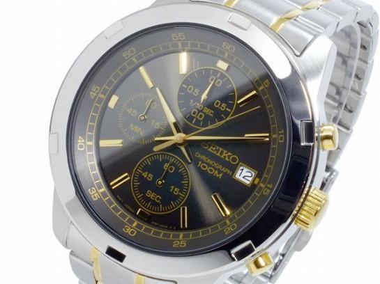 セイコー  SEIKO クオーツ メンズ クロノ 腕時計 ...