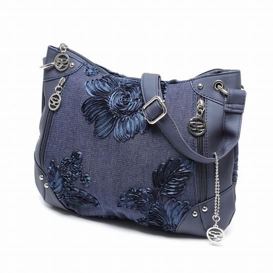 サボイ SAVOY デニム生地を使用した布製バッグ  ...
